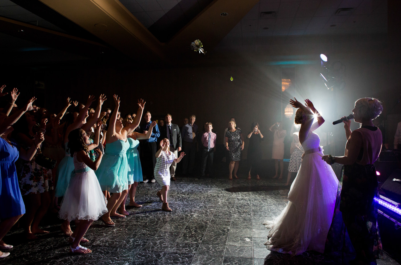 Creative wedding reception photography