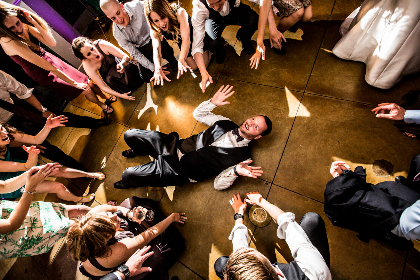 Dance floor wedding photos in Calgary